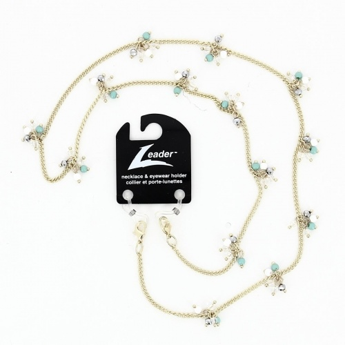 Glasses Chain 'Arista Turquoise Cluster'