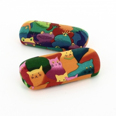 Glasses Case with Cartoon Cats or Frogs - Cool