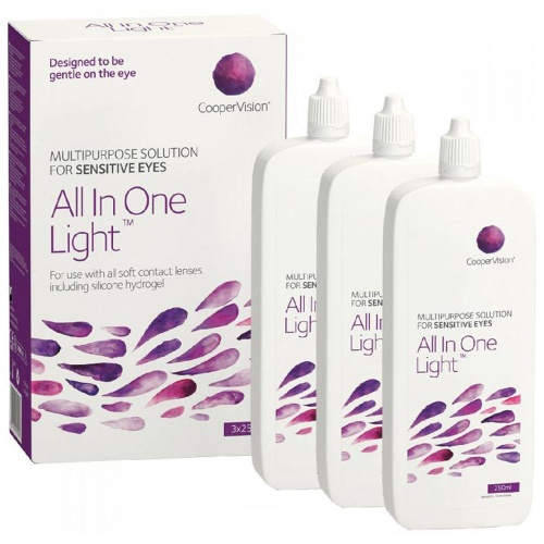All In One Light Contact Lens Solution