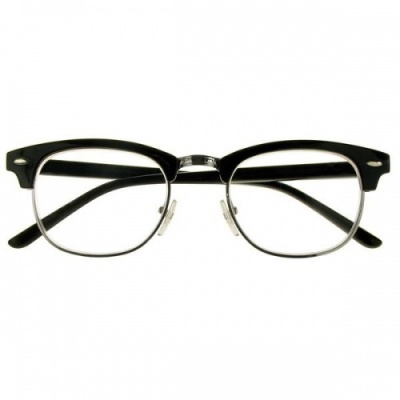 Black Retro JFK Style Reading Glasses-Bromley