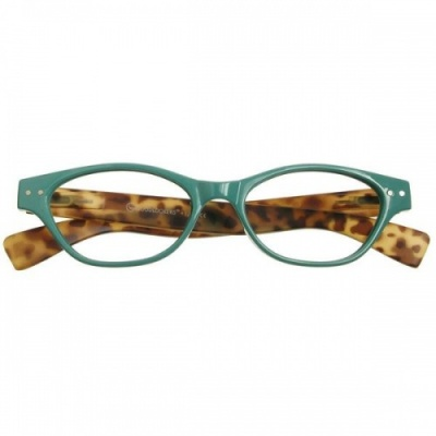 Reading Glasses - Womens - Layla - Turquoise & Tortoise Shell