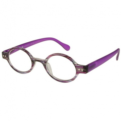 Reading Glasses - Womens - Louvre - Purple Stripe