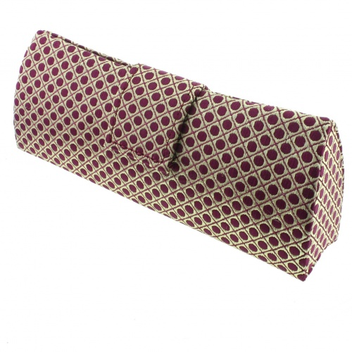 Paris Satin Polka Dot Clutch Bag Style Spectacle Case