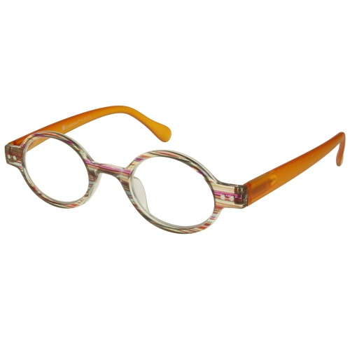 Reading Glasses - Unisex - Louvre - Brown Stripe