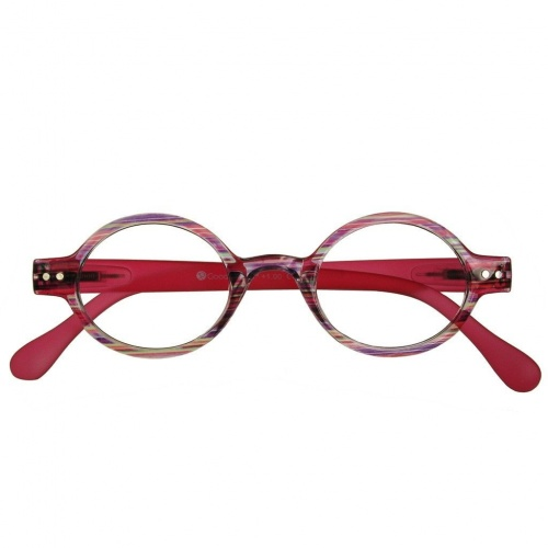 Reading Glasses - Womens - Louvre - Pink Stripe