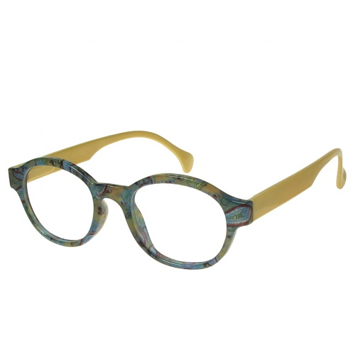 Reading Glasses - Unisex - Francesca - Green & Gold