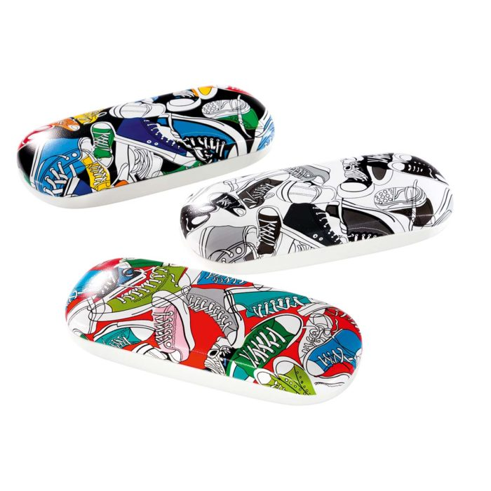 Sneaker Print Glasses Case